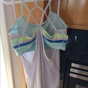 Ivivva gorgeous colored bra & tank Size 14,EUC